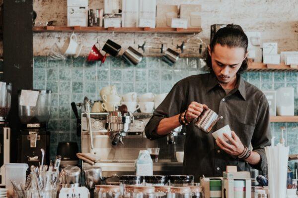 Kassalösning på ett café
